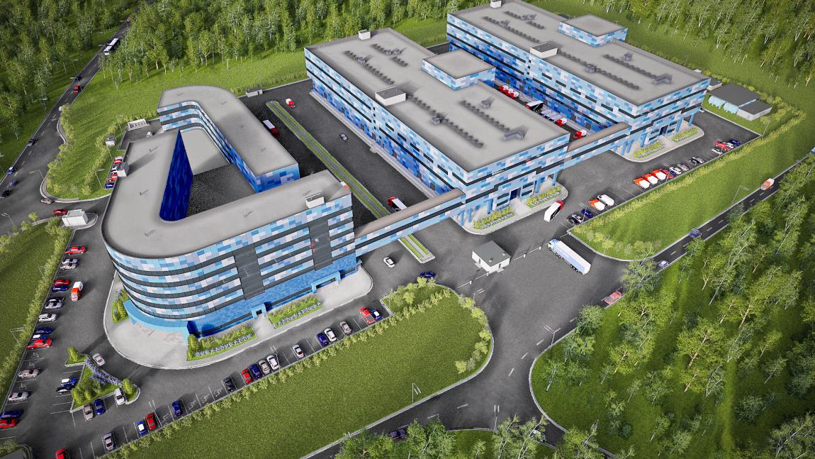 Проектирование и строительство производственно-складского корпуса с  надземным  переходом